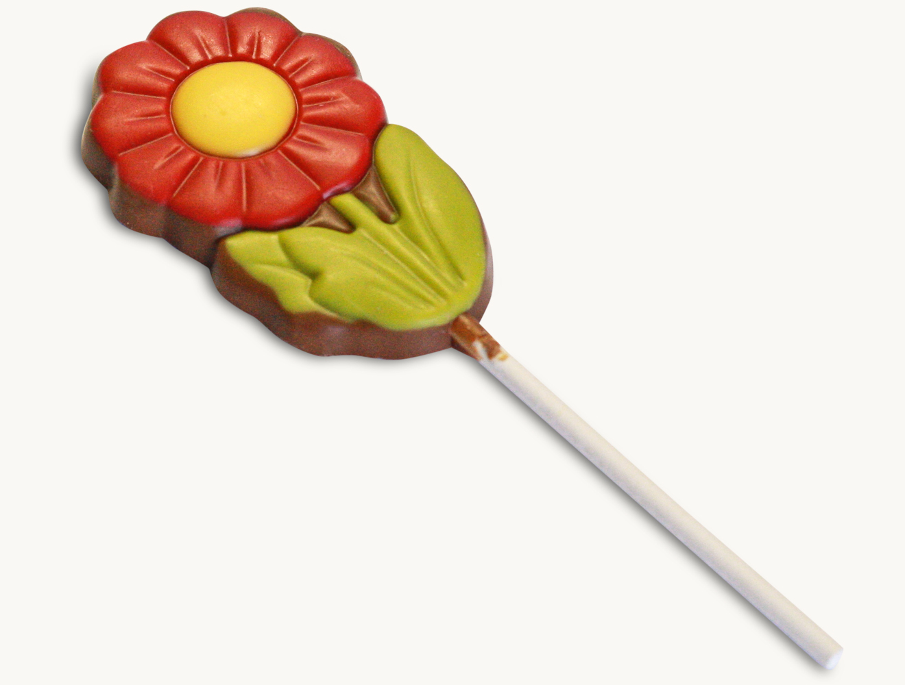 Lolly Blume rot-gelb