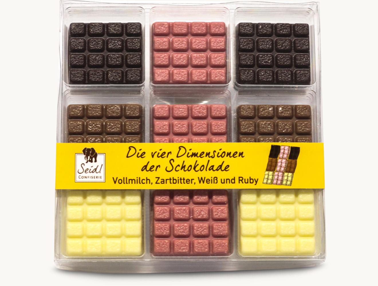Die vier Dimensionen der Schokolade