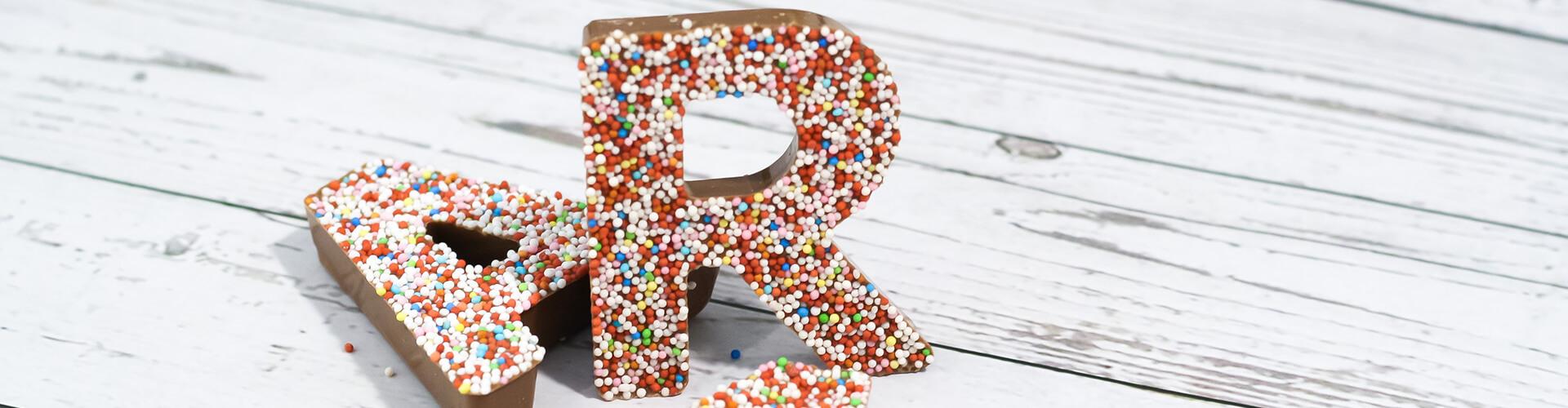 Schoko Buchstaben und Zahlen
