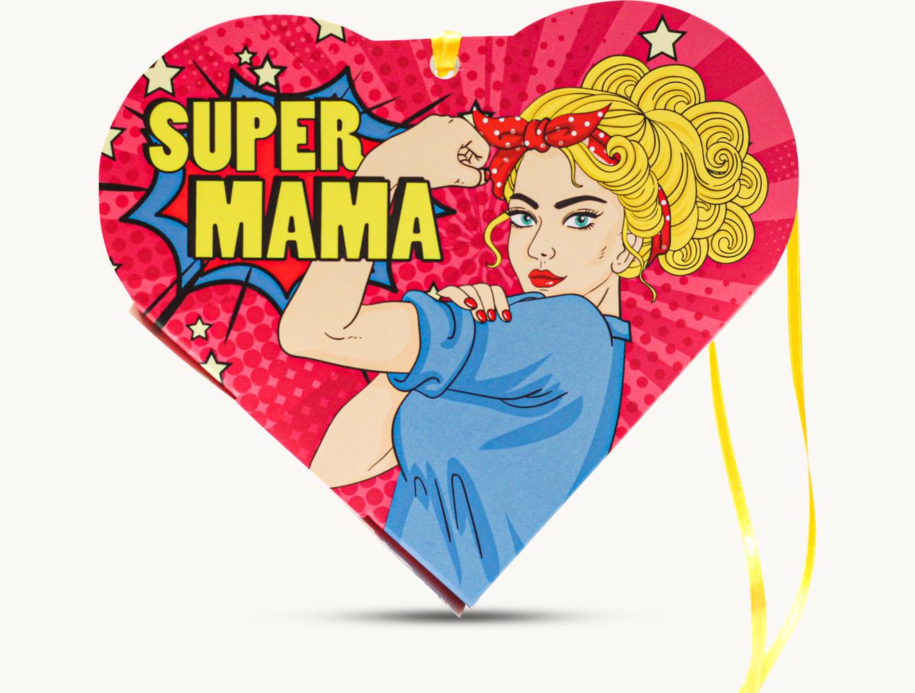 "Schokini Herz ""SUPER MAMA"""