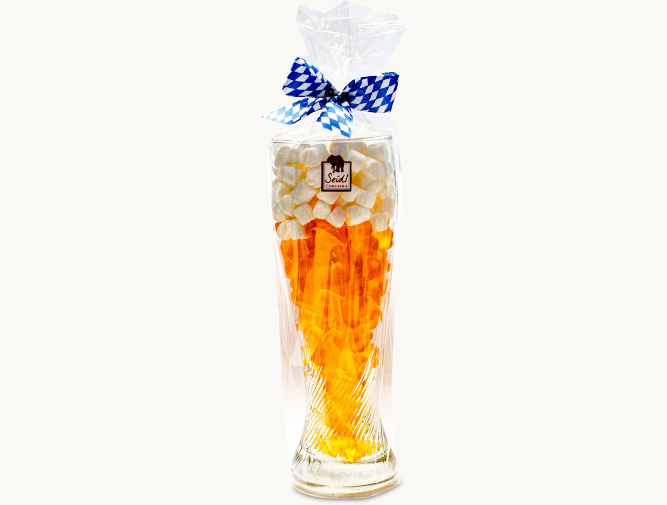 Weißbierglas mit Fruchtgummi