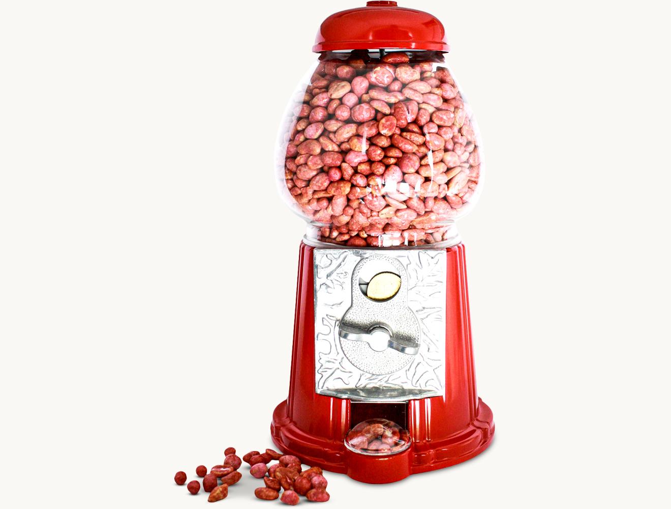 Nussglocke mit rot kandierten Erdnüssen