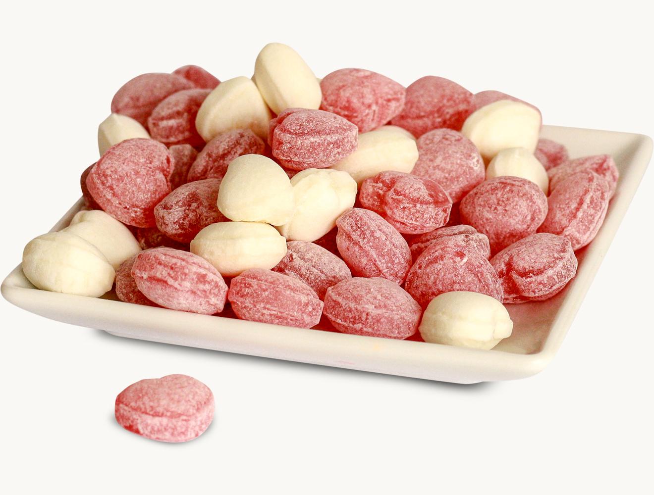 Bonbons Bayerische Herzerl weiß rot